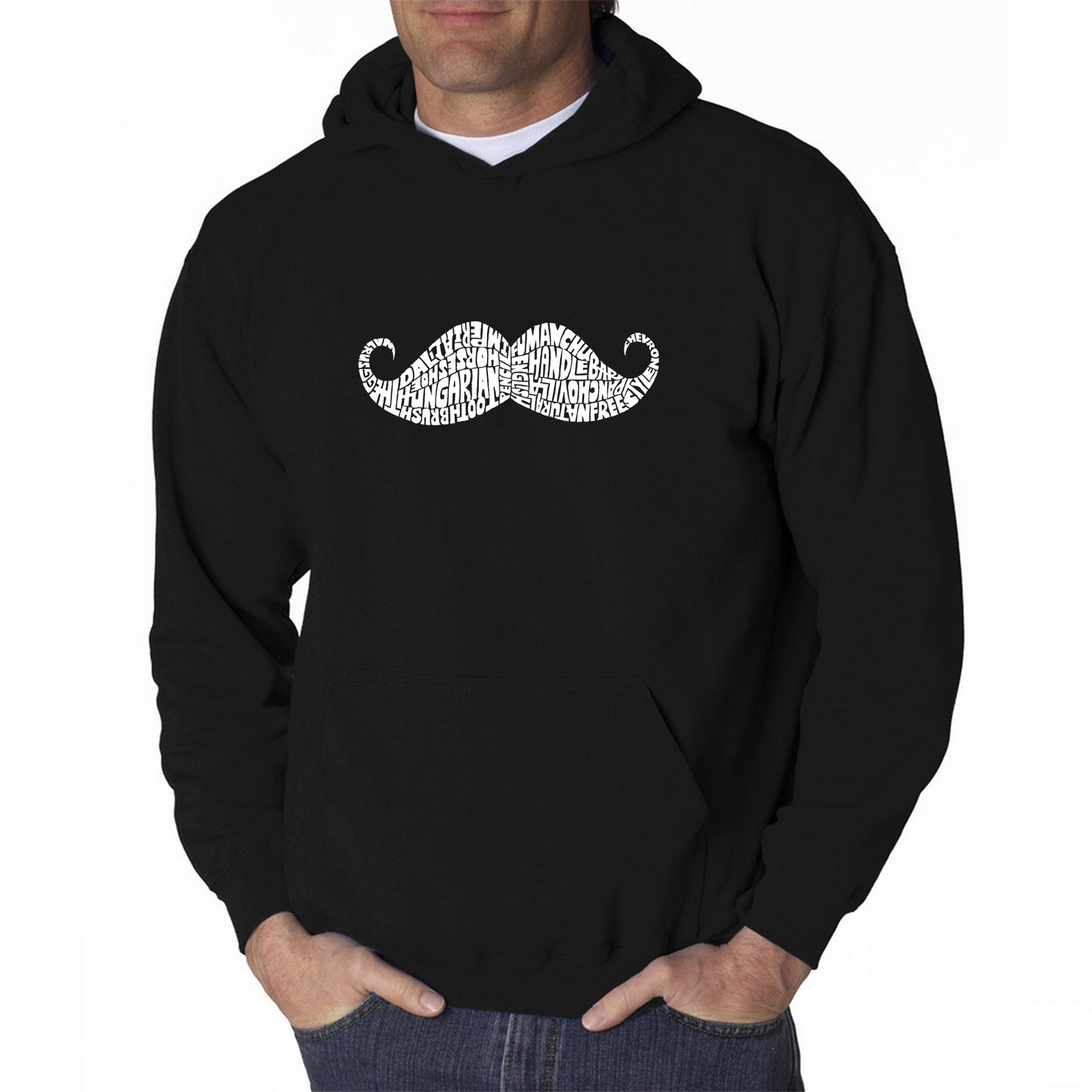 Men's Hooded Sweatshirt - WAYS TO STYLE A MOUSTACHE