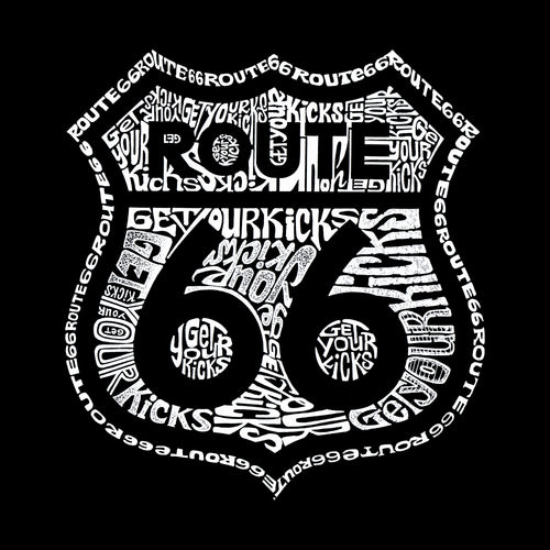 Boy's Hooded Sweatshirt - Get Your Kicks on Route 66