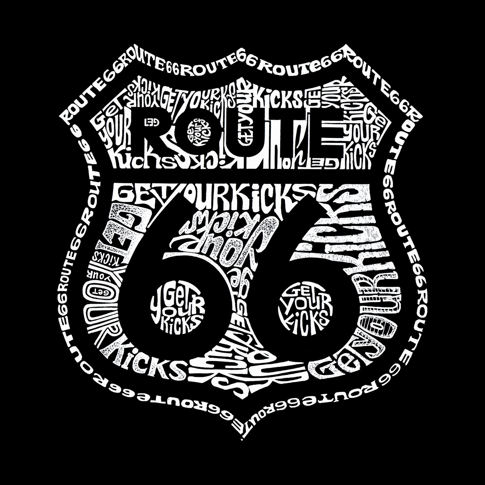 Girl's Long Sleeve - Get Your Kicks on Route 66