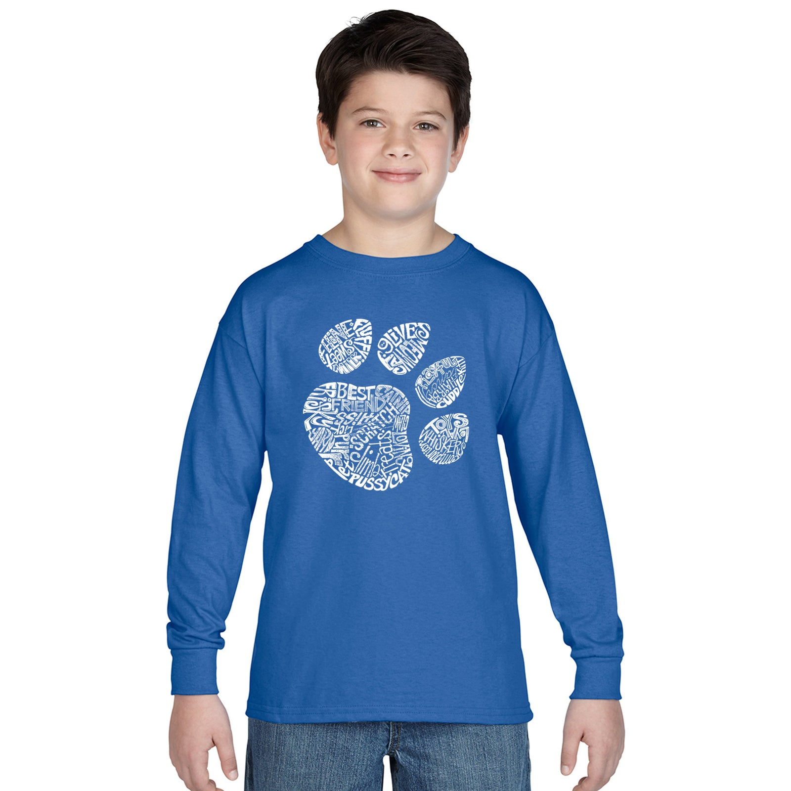 Boy's Long Sleeve - Cat Paw