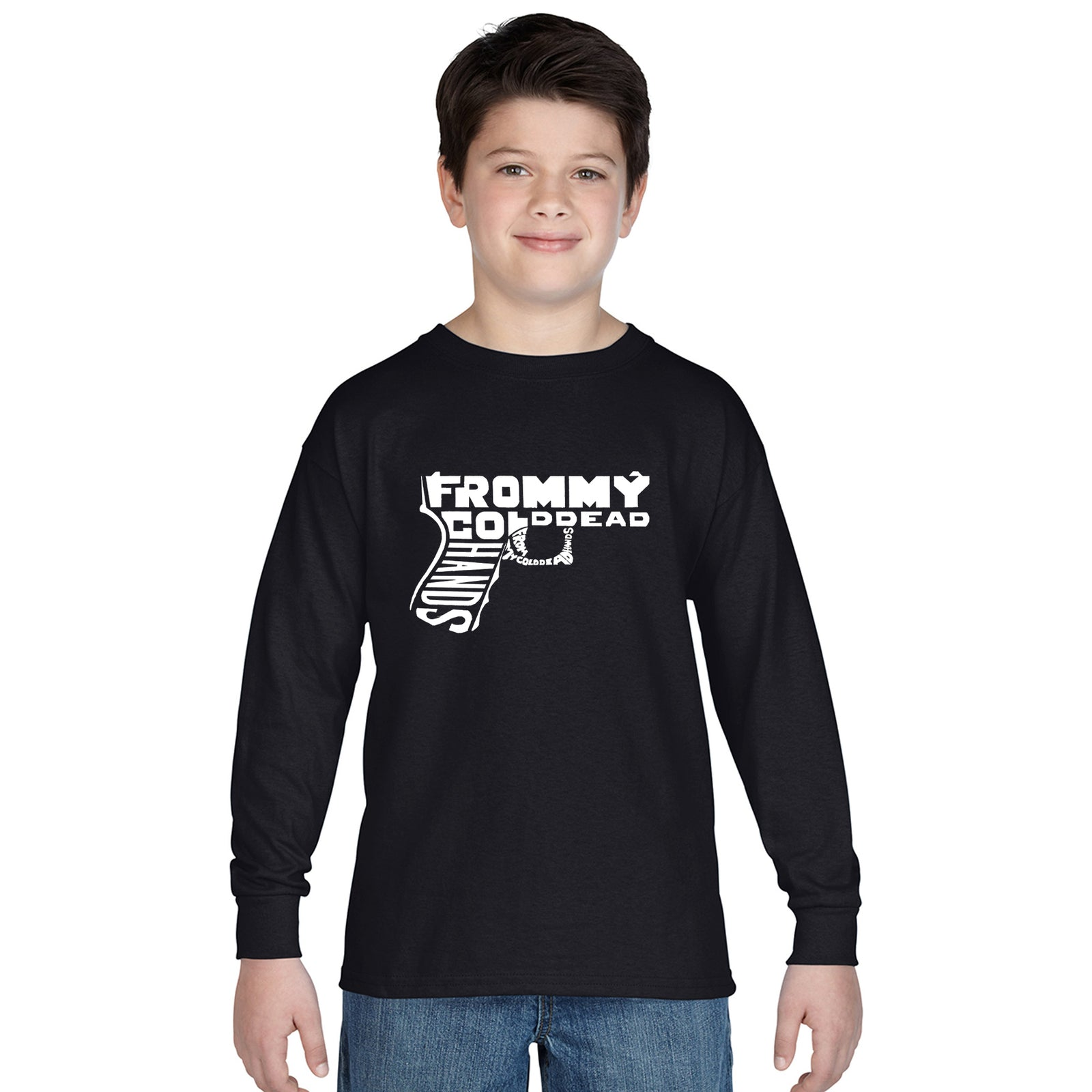 Boy's Long Sleeve - Out of My cold Dead Hands Gun