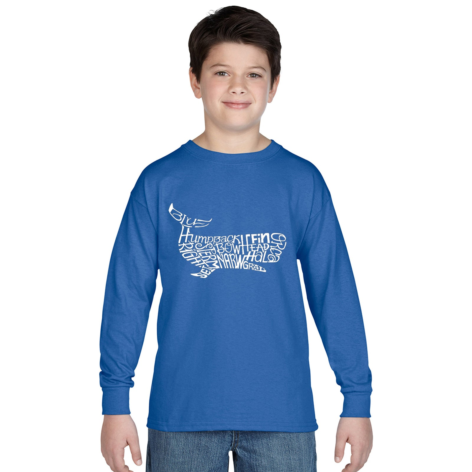 Boy's Word Art Long Sleeve - Humpbk