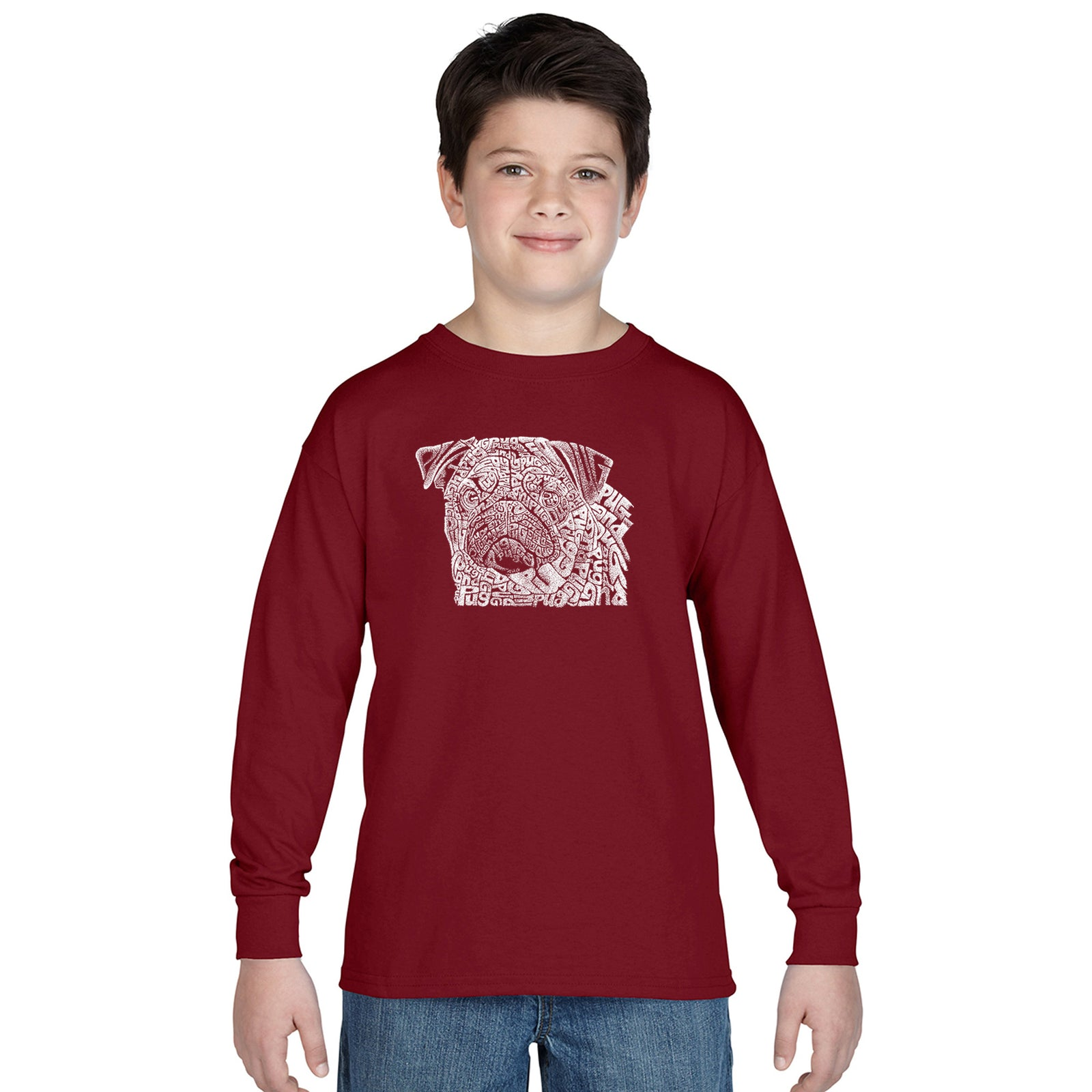 Boy's Long Sleeve - Pug Face
