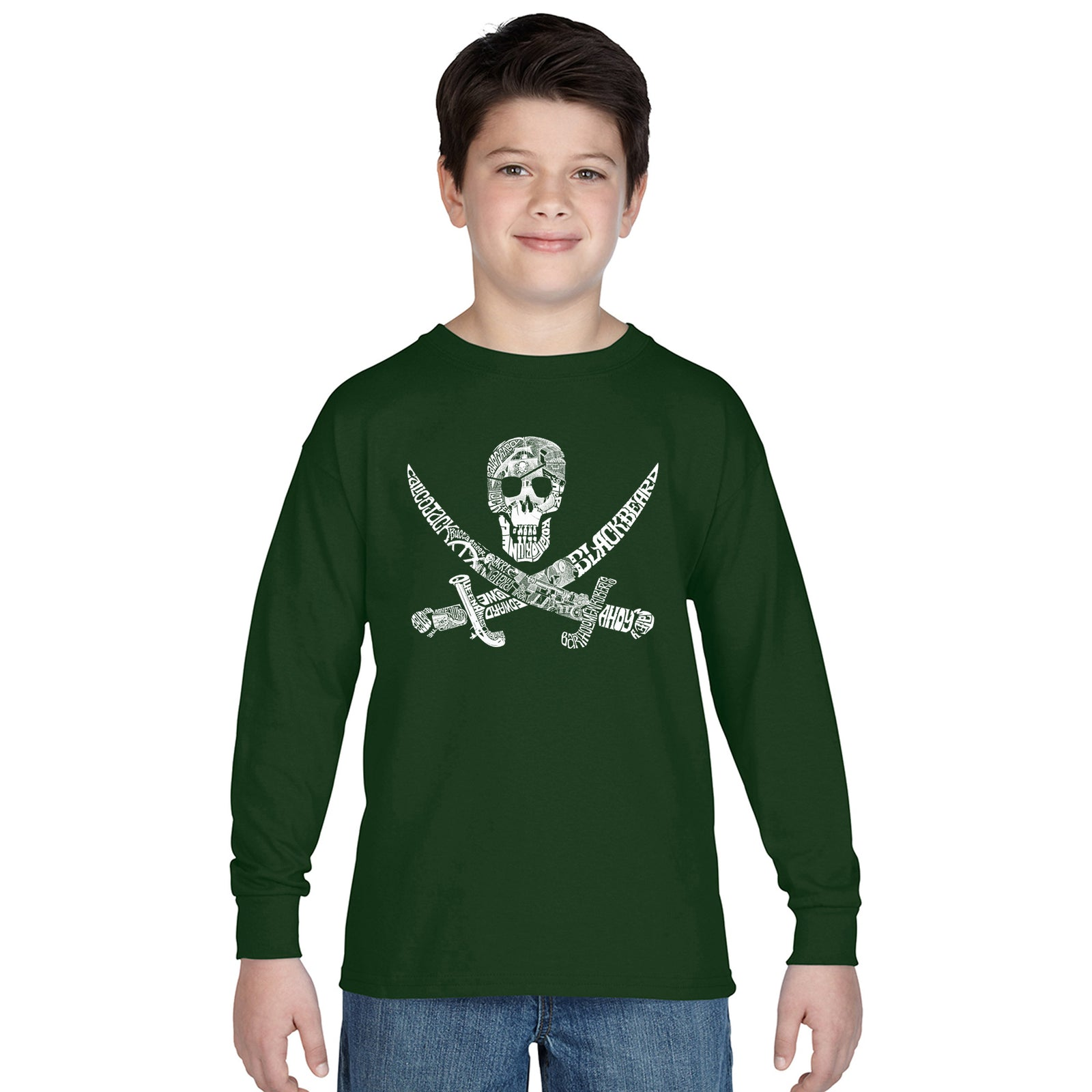 Boy's Long Sleeve - PIRATE CAPTAINS, SHIPS AND IMAGERY