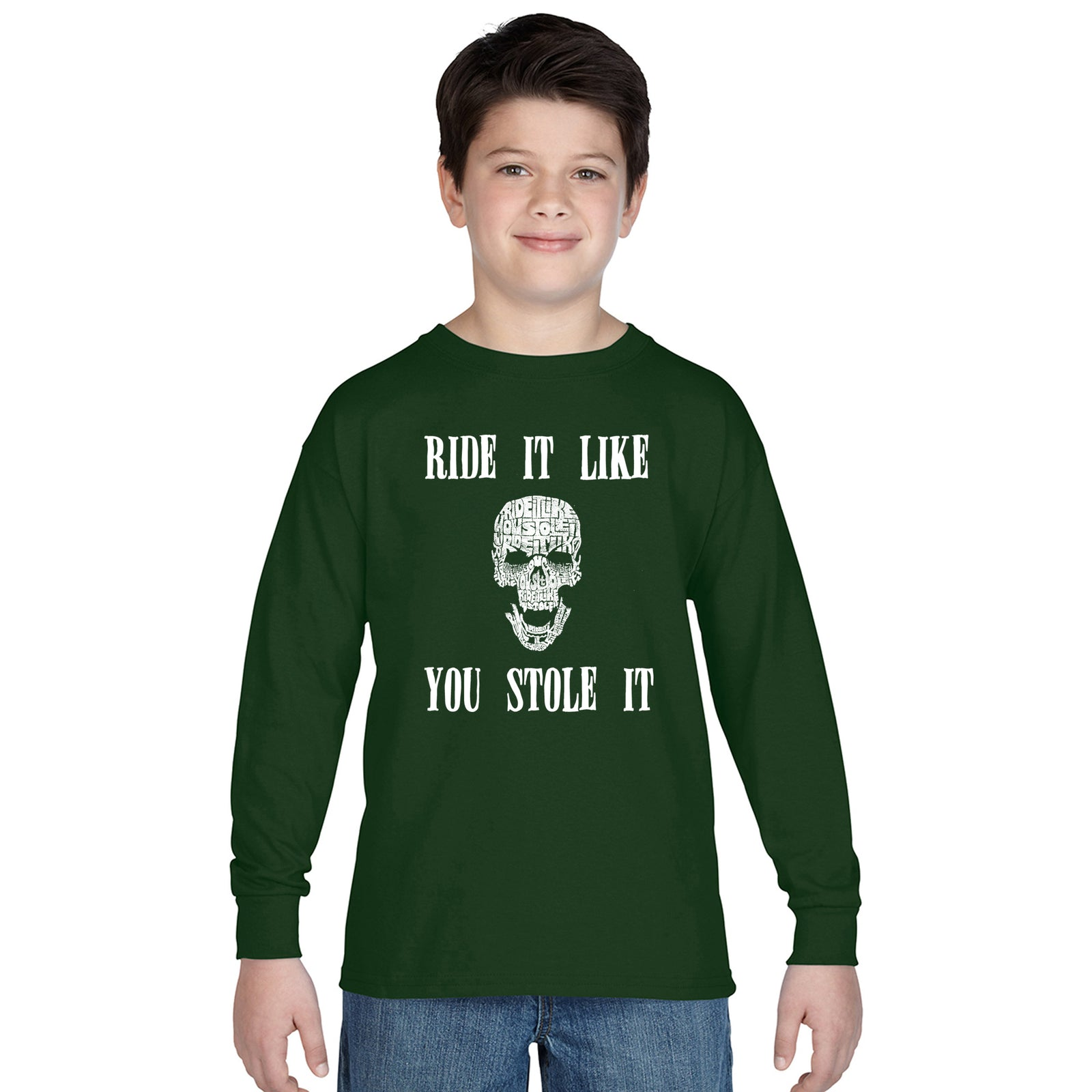 Boy's Word Art Long Sleeve - Ride It Like You Stole It