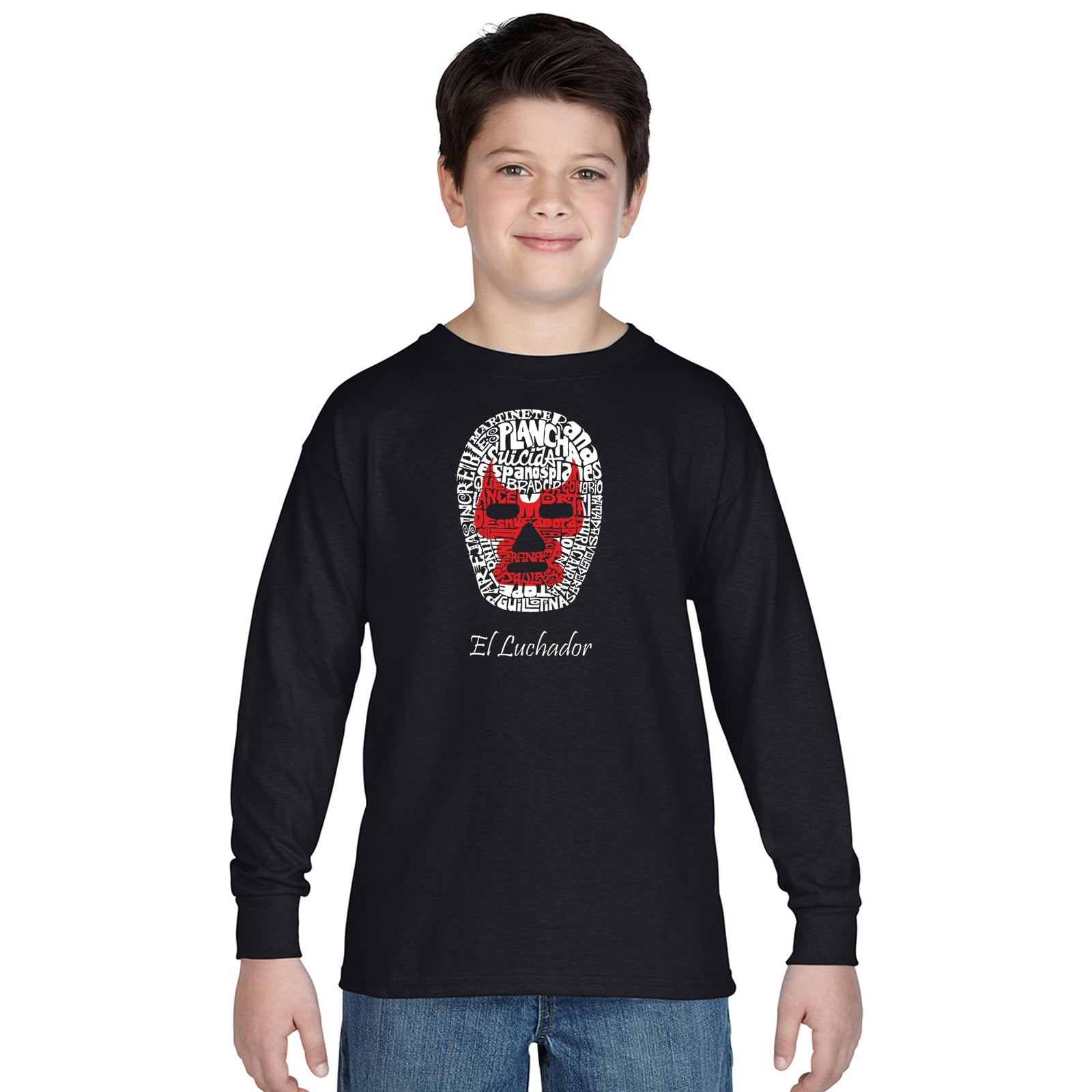 Boy's Long Sleeve - MEXICAN WRESTLING MASK