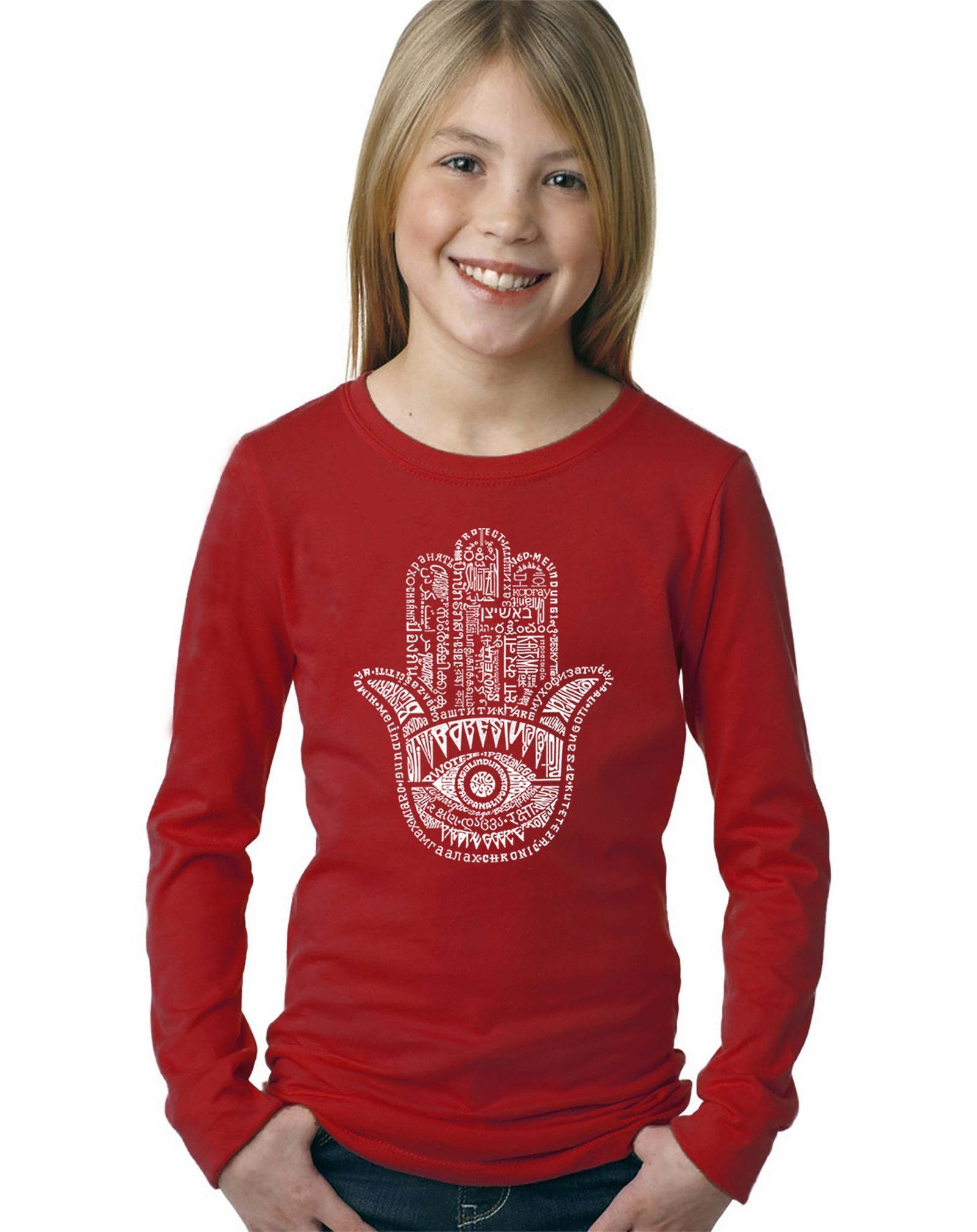 Girl's Long Sleeve - Hamsa