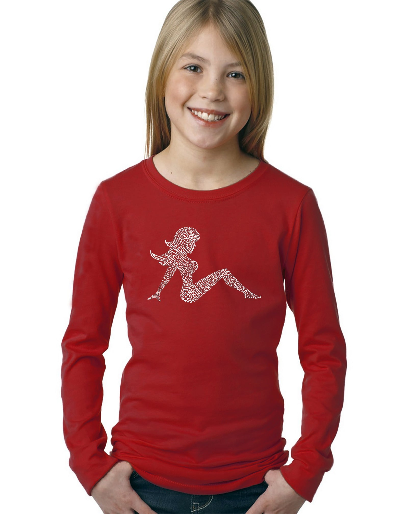 Girl's Long Sleeve - Mudflap Girl - Keep on Truckin