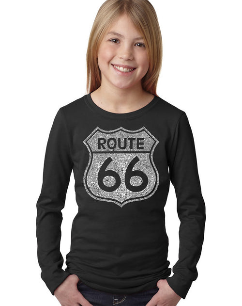 Girl's Long Sleeve - CITIES ALONG THE LEGENDARY ROUTE 66