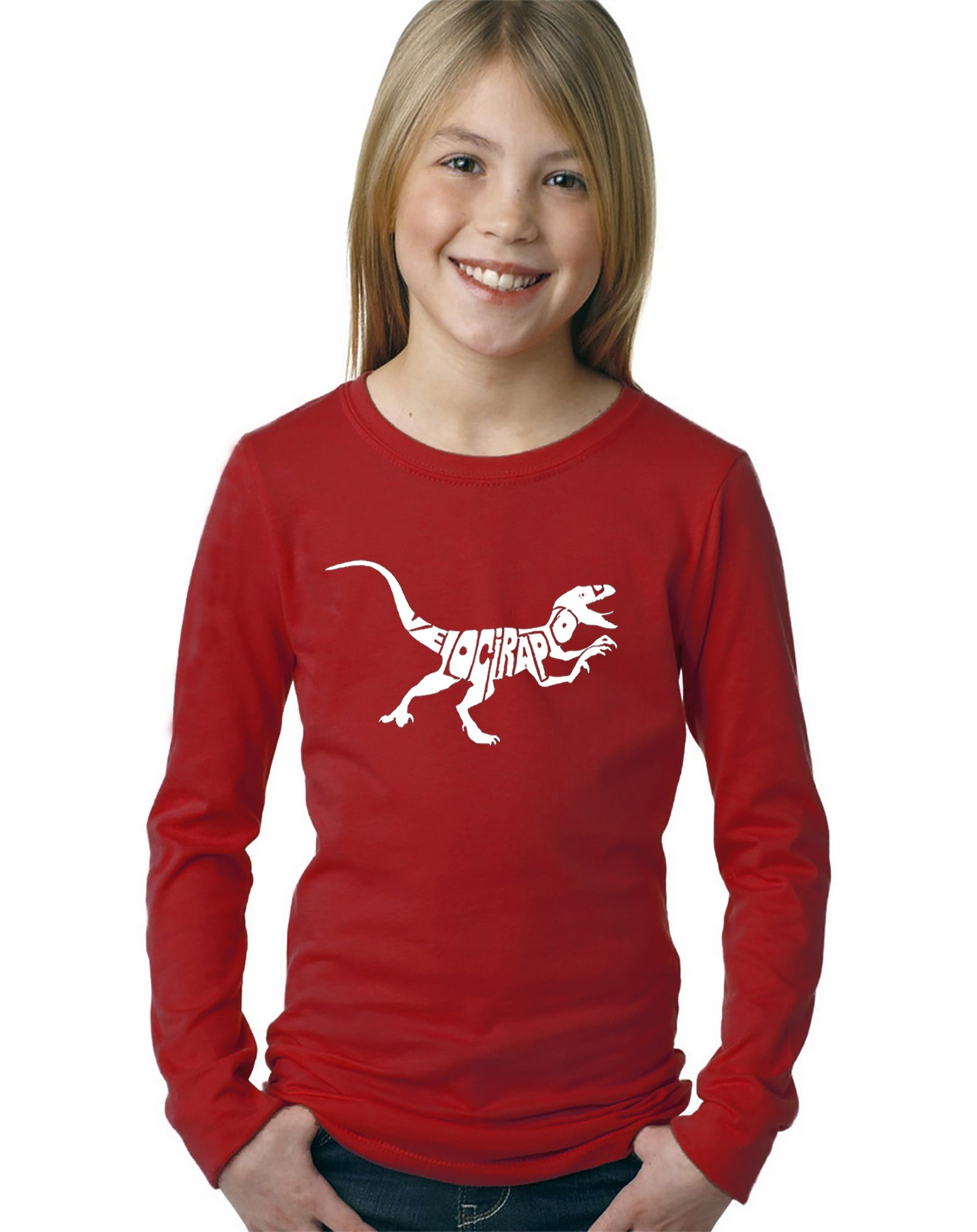 Girl's Long Sleeve - Velociraptor