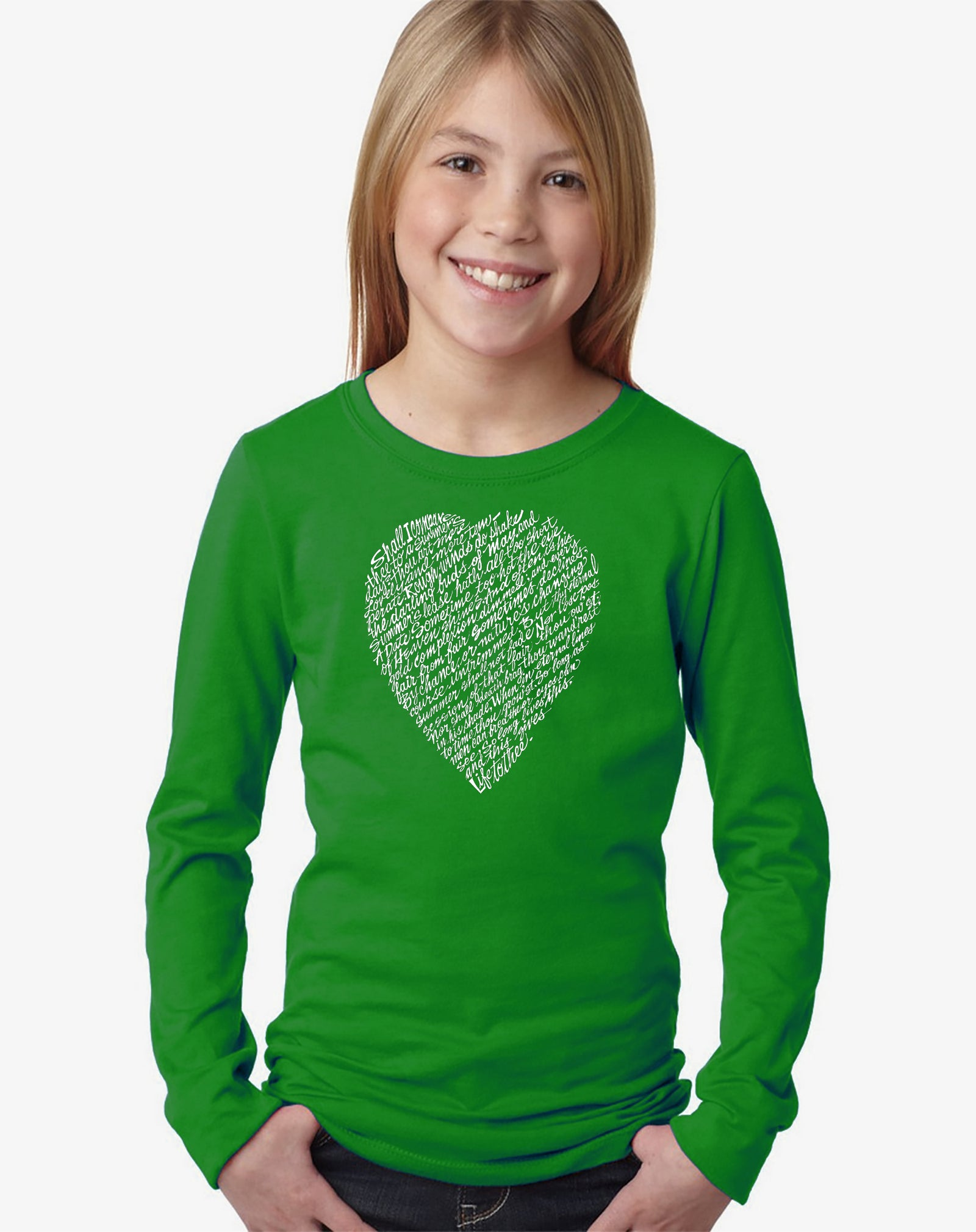 Girl's Long Sleeve - WILLIAM SHAKESPEARE'S SONNET 18