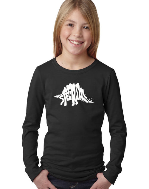 Girl's Long Sleeve - STEGOSAURUS