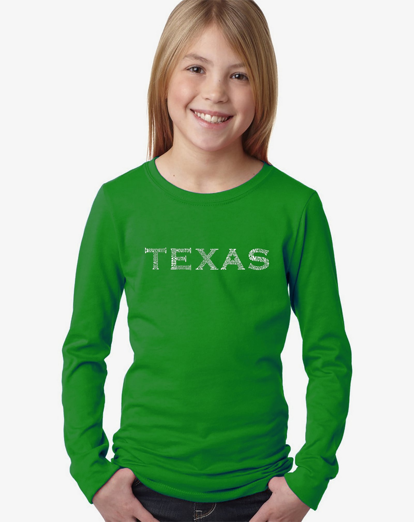 Girl's Long Sleeve - THE GREAT CITIES OF TEXAS