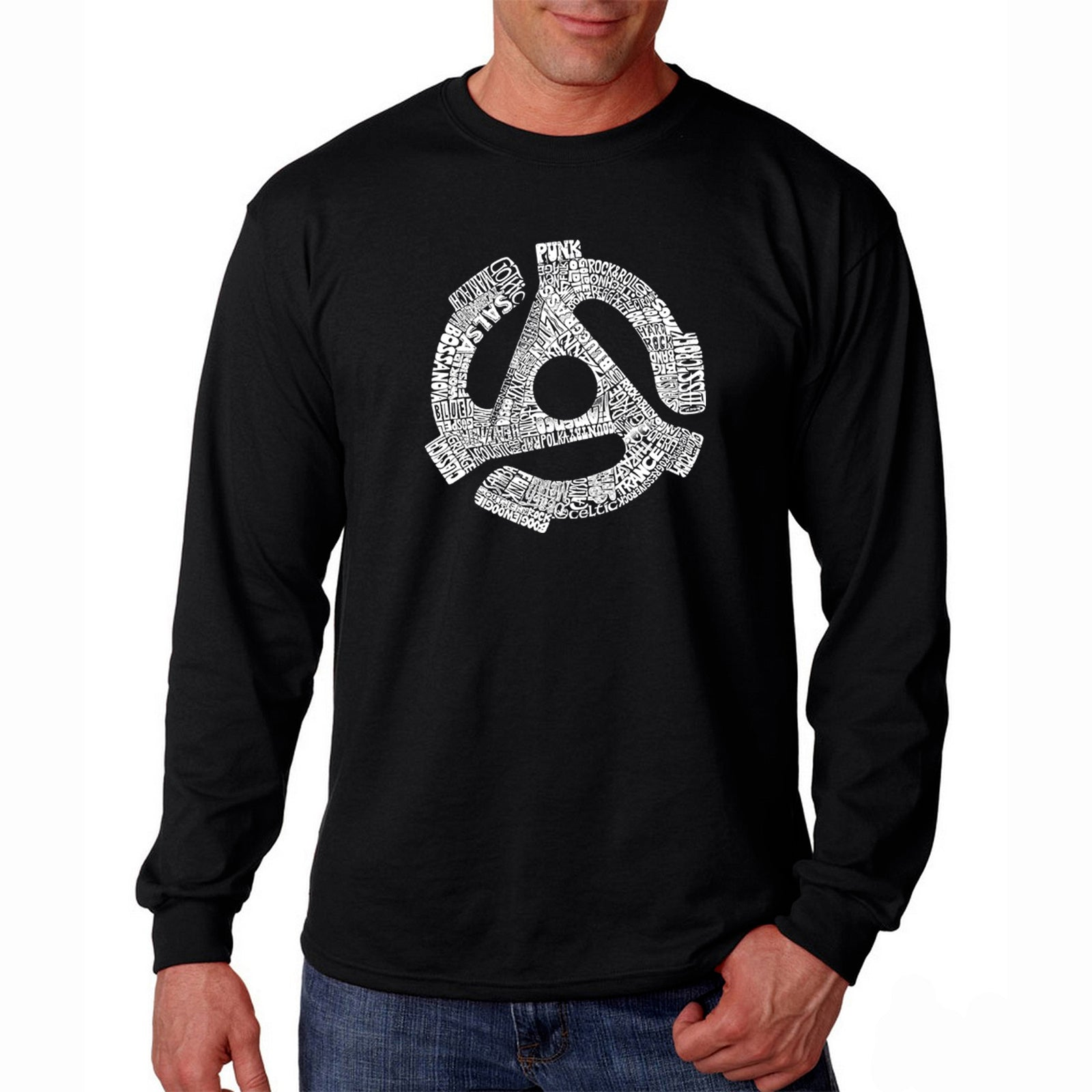 Men's Long Sleeve T-shirt - Record Adapter