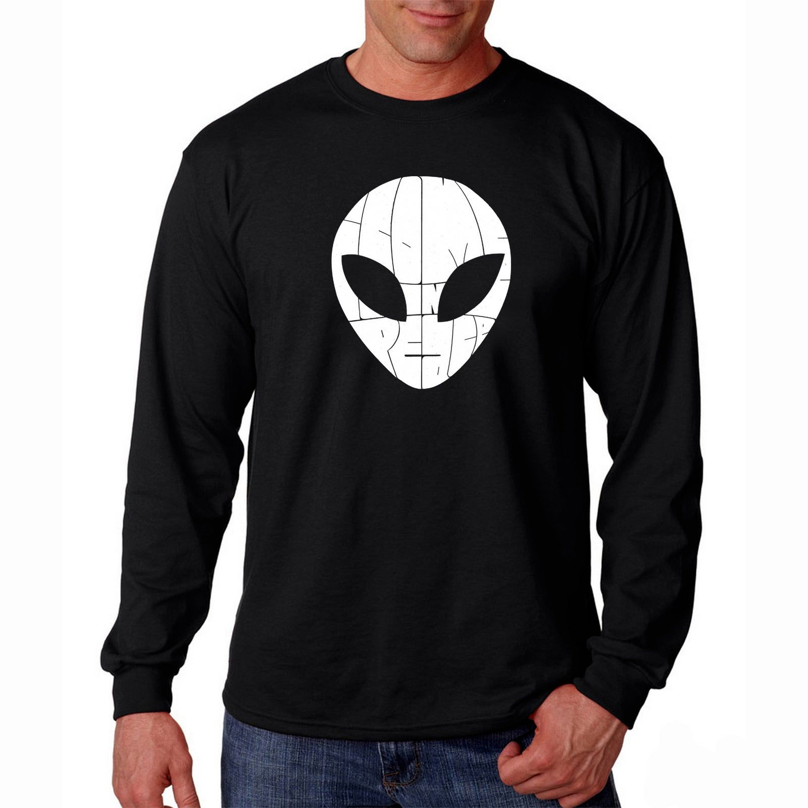 Men's Long Sleeve T-shirt - I COME IN PEACE