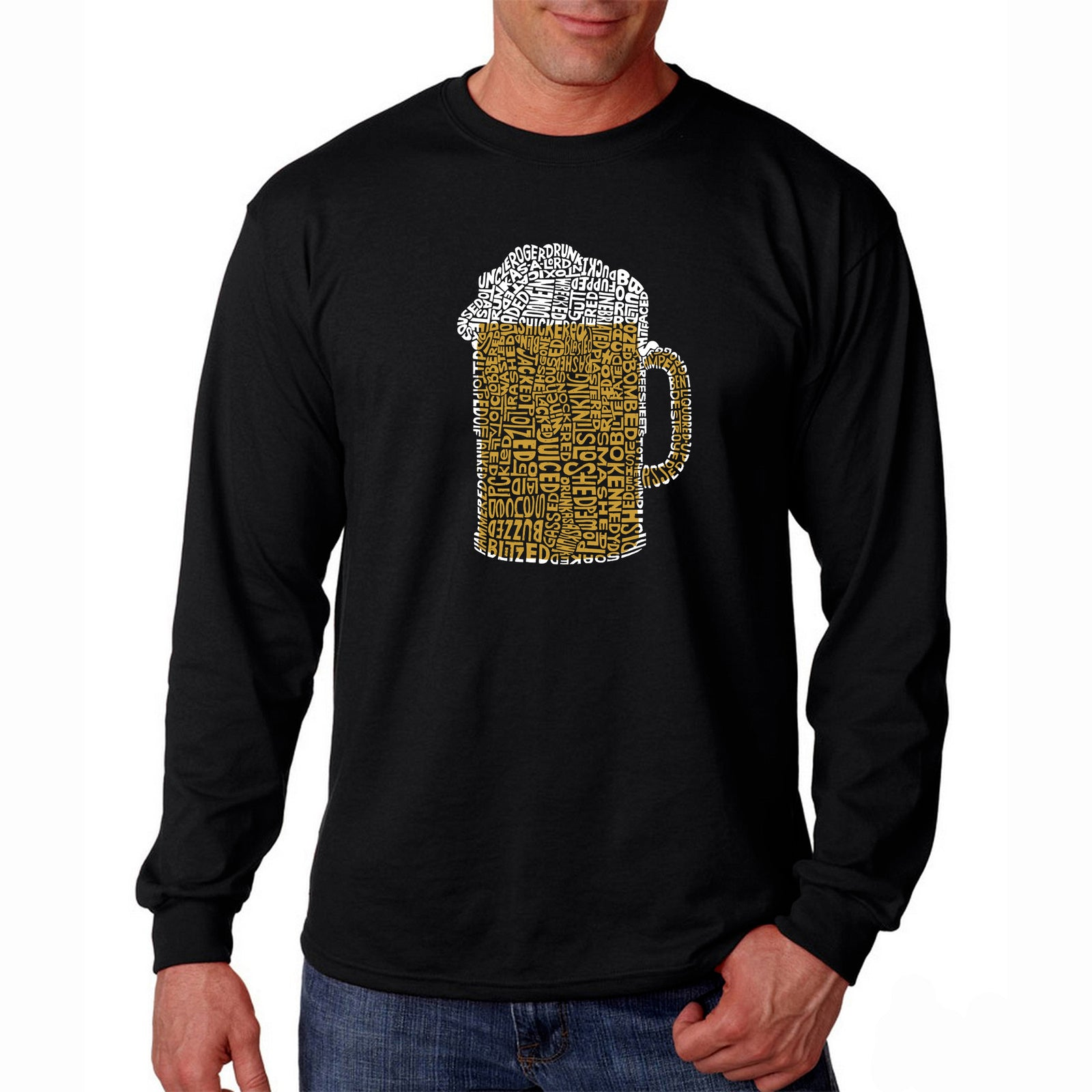 Men's Long Sleeve T-shirt - Slang Terms for Being Wasted