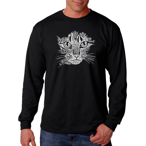 Los Angeles Pop Art Men's Long Sleeve T-shirt - Cat Face
