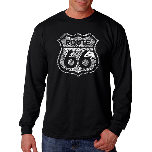 Men's Long Sleeve T-shirt - Get Your Kicks on Route 66
