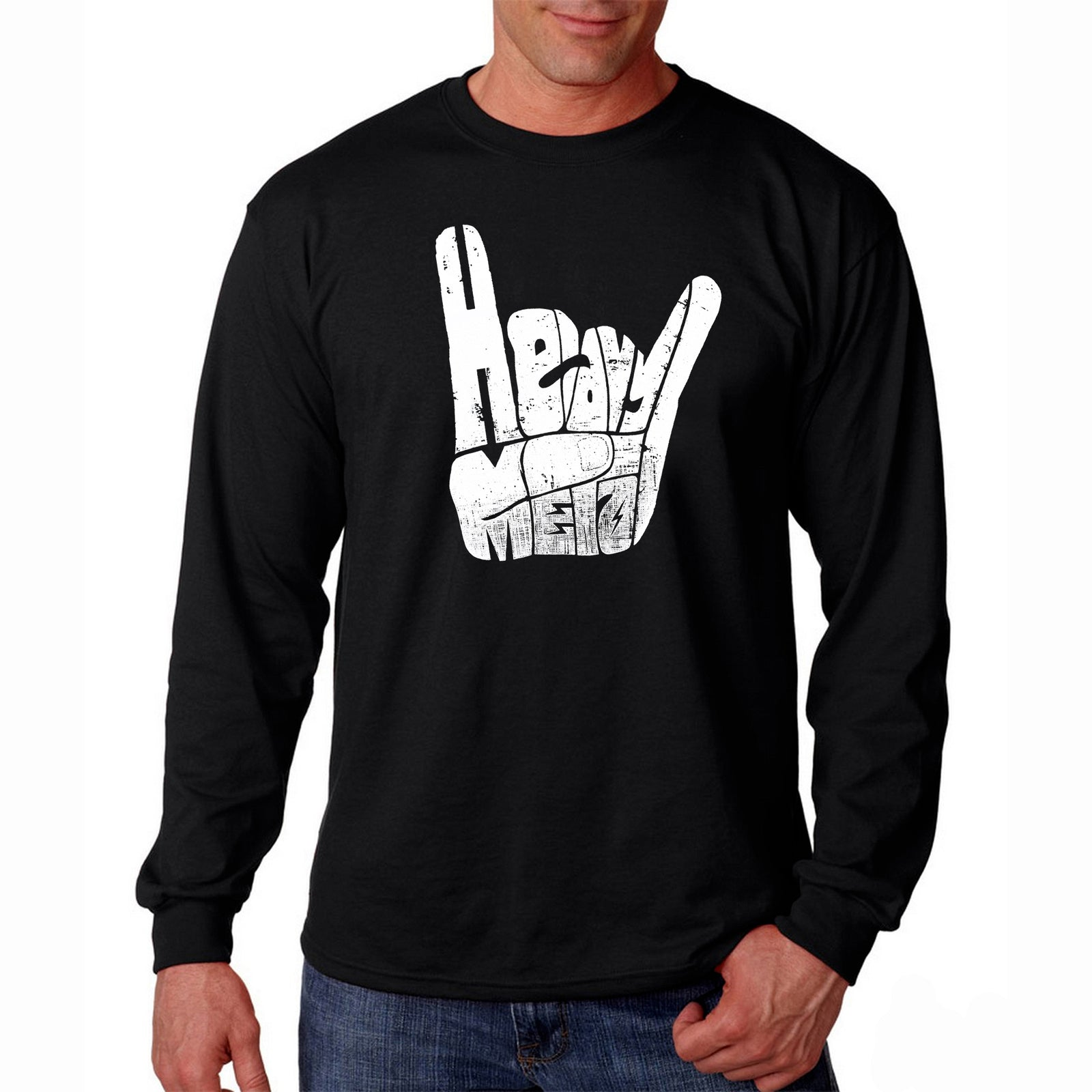 Men's Long Sleeve T-shirt - Heavy Metal