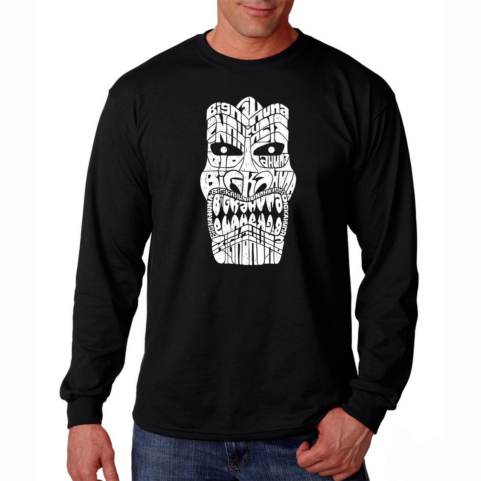 Men's Long Sleeve T-shirt - TIKI - BIG KAHUNA