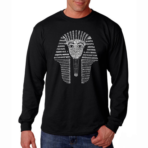 Men's Long Sleeve T-shirt - THE WORD PEACE IN 77 LANGUAGES