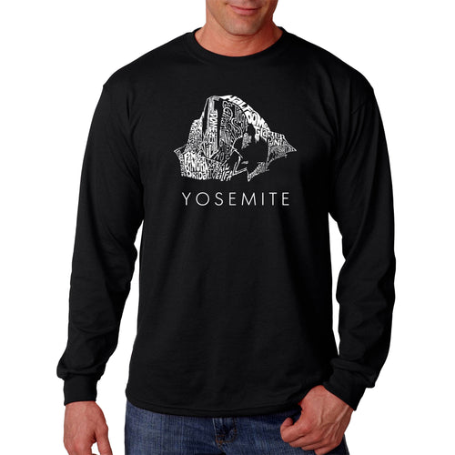 Los Angeles Pop Art Men's Long Sleeve T-shirt - Yosemite