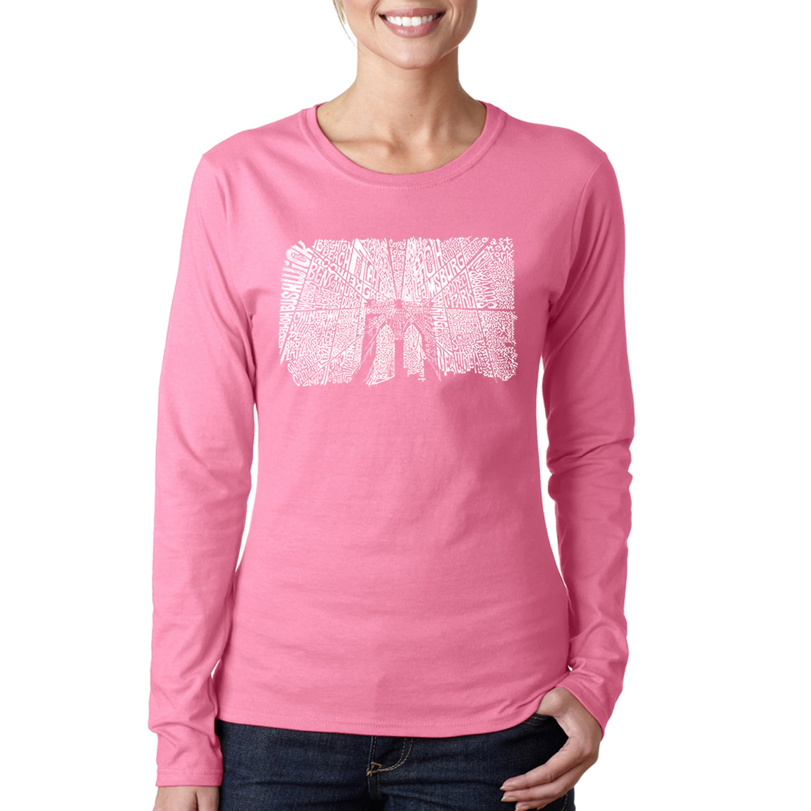 Women's Long Sleeve T-Shirt - Brooklyn Bridge