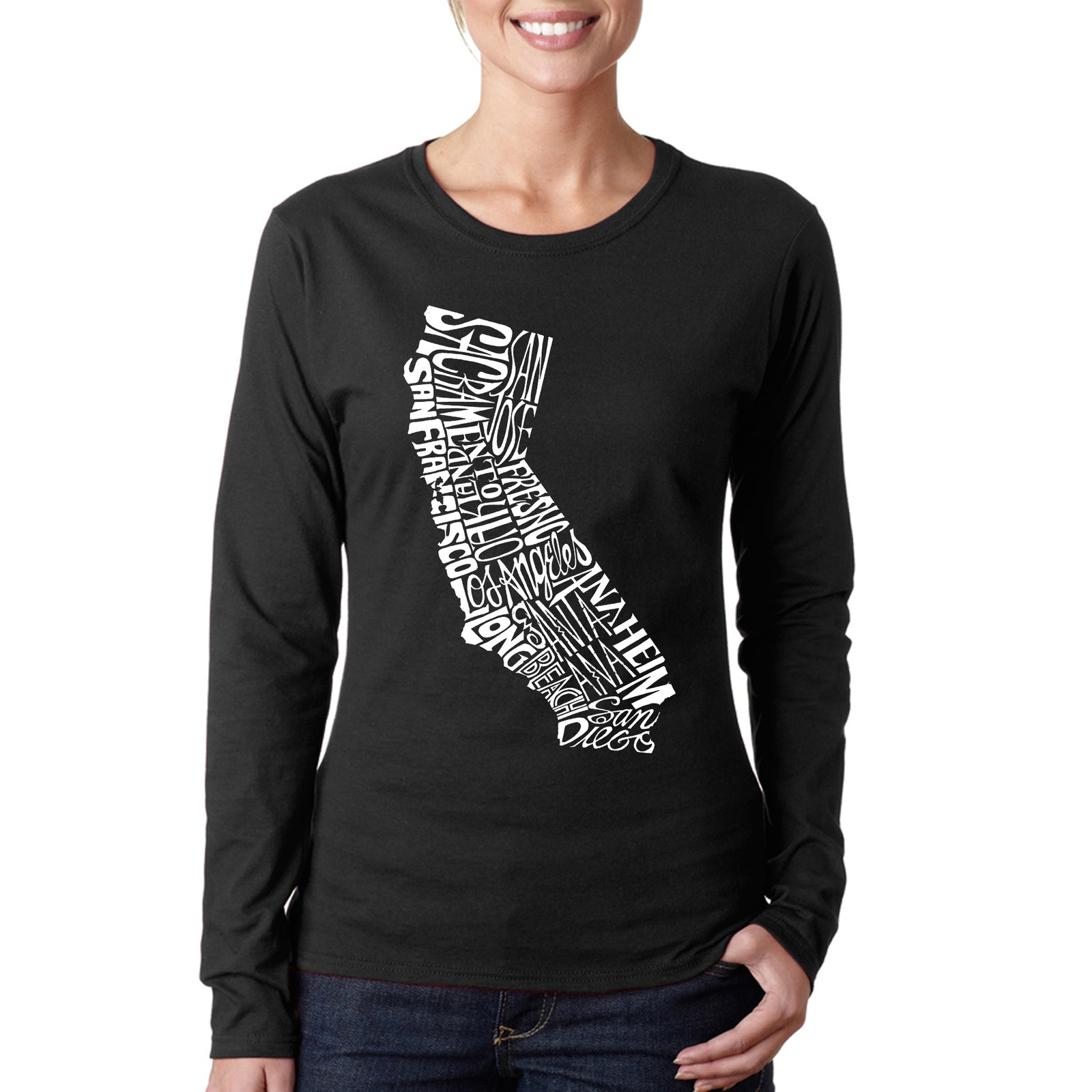 Women's Long Sleeve T-Shirt - California State