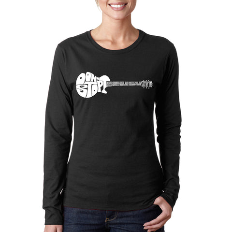 Women's Word Art Long Sleeve T-Shirt - Baseball Mom