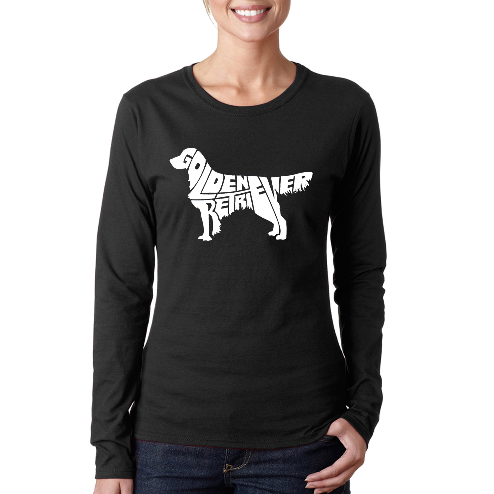 Women's Long Sleeve T-Shirt - Golden Retreiver
