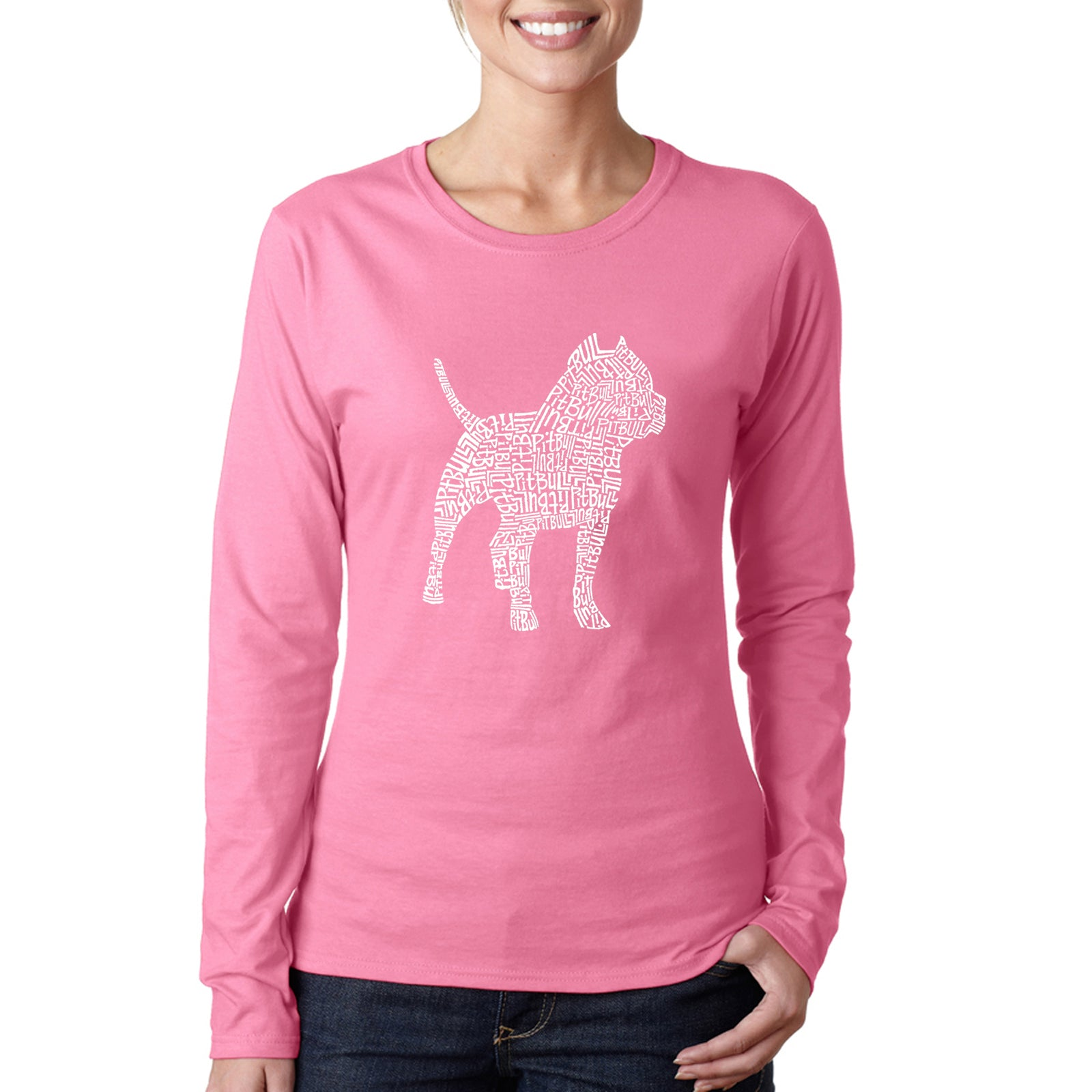 Women's Long Sleeve T-Shirt - Pitbull