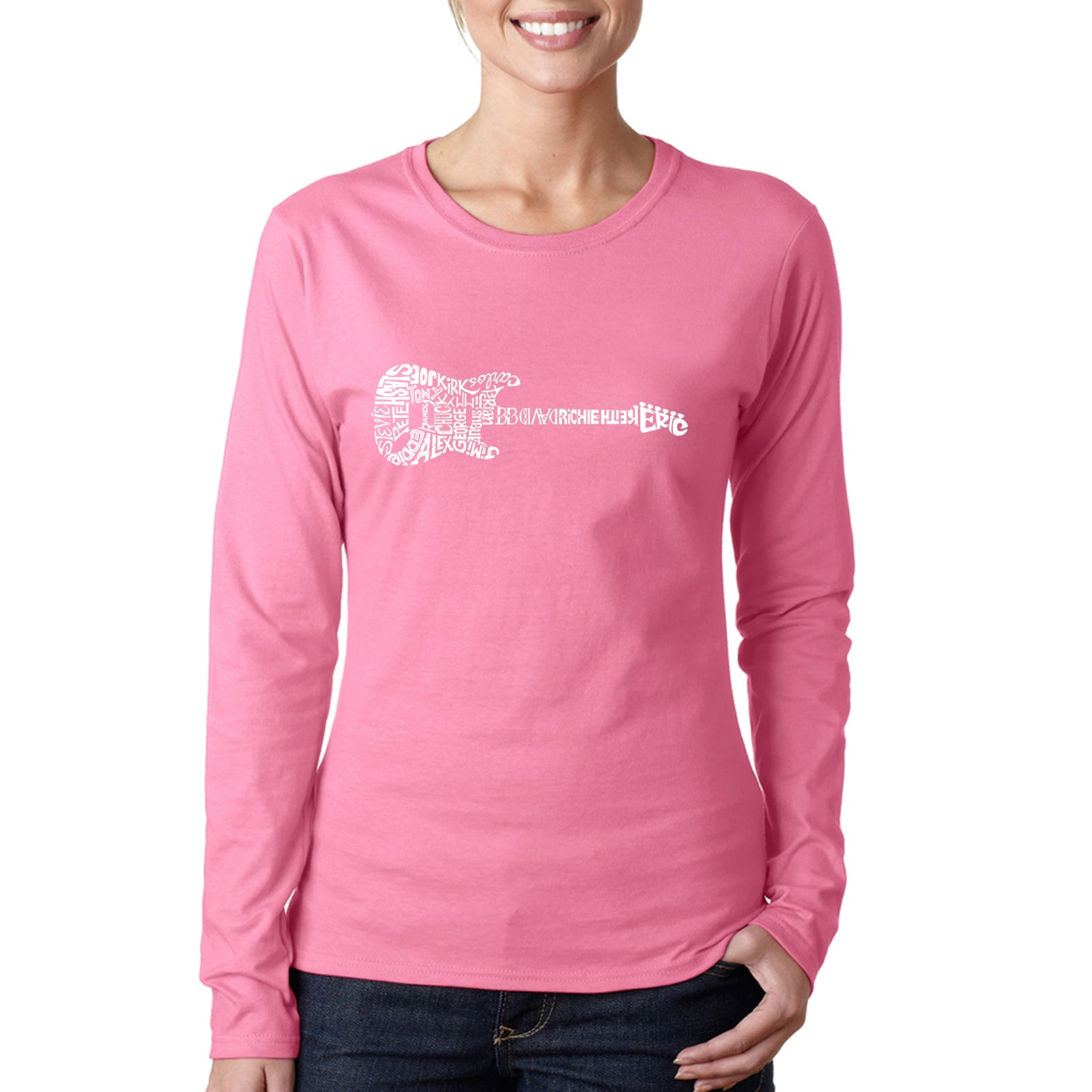 Women's Long Sleeve T-Shirt - Rock Guitar