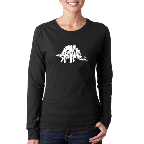 Women's Long Sleeve T-Shirt - STEGOSAURUS