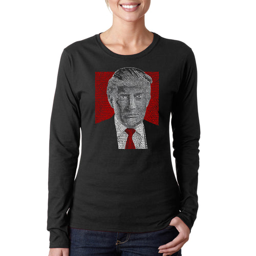 Women's Long Sleeve T-Shirt - TRUMP 2016 - Make America Great Again
