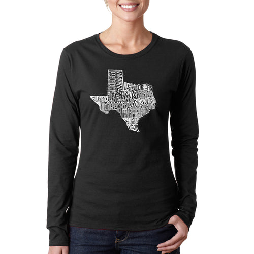 Women's Long Sleeve T-Shirt - The Great State of Texas