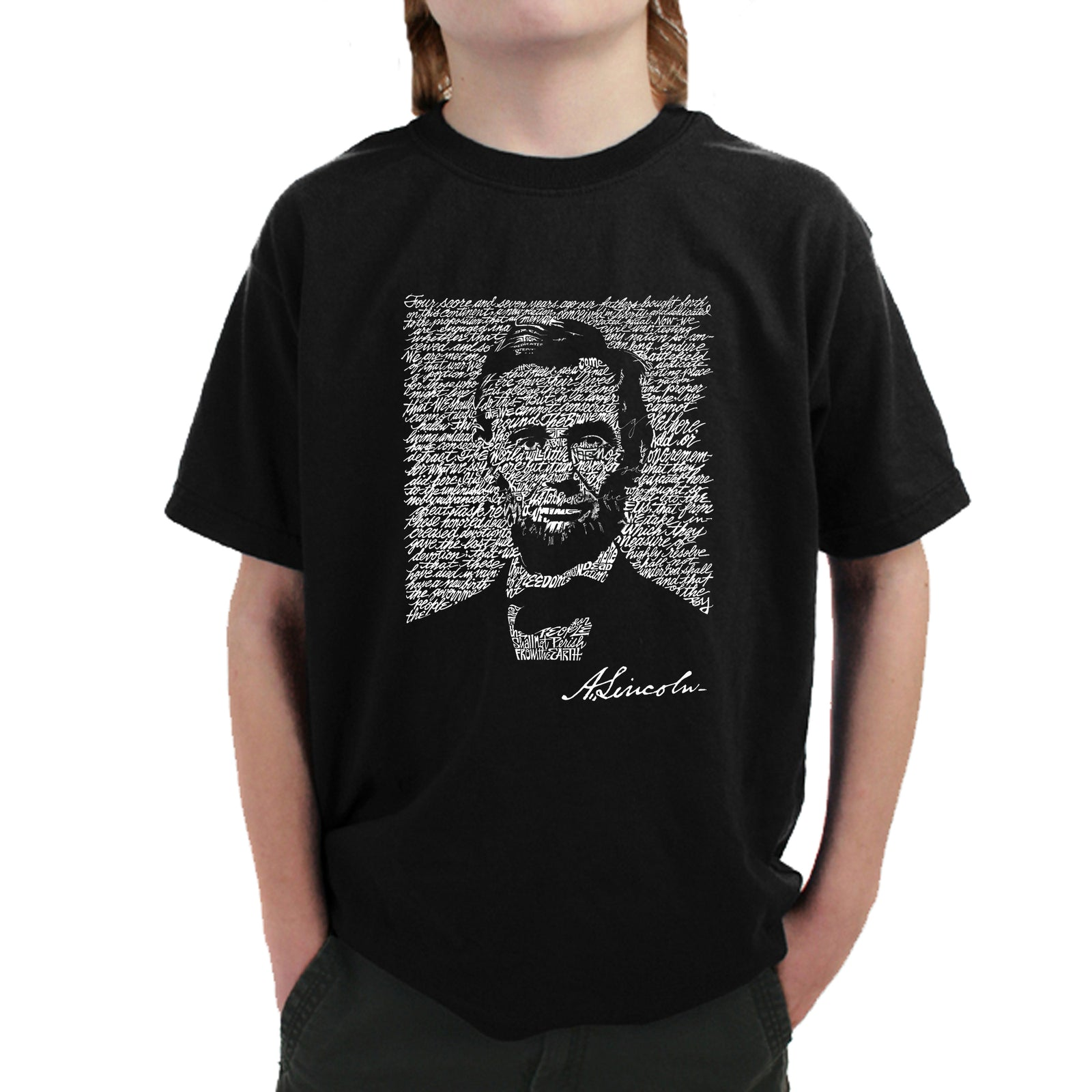 Boy's T-shirt - ABRAHAM LINCOLN - GETTYSBURG ADDRESS