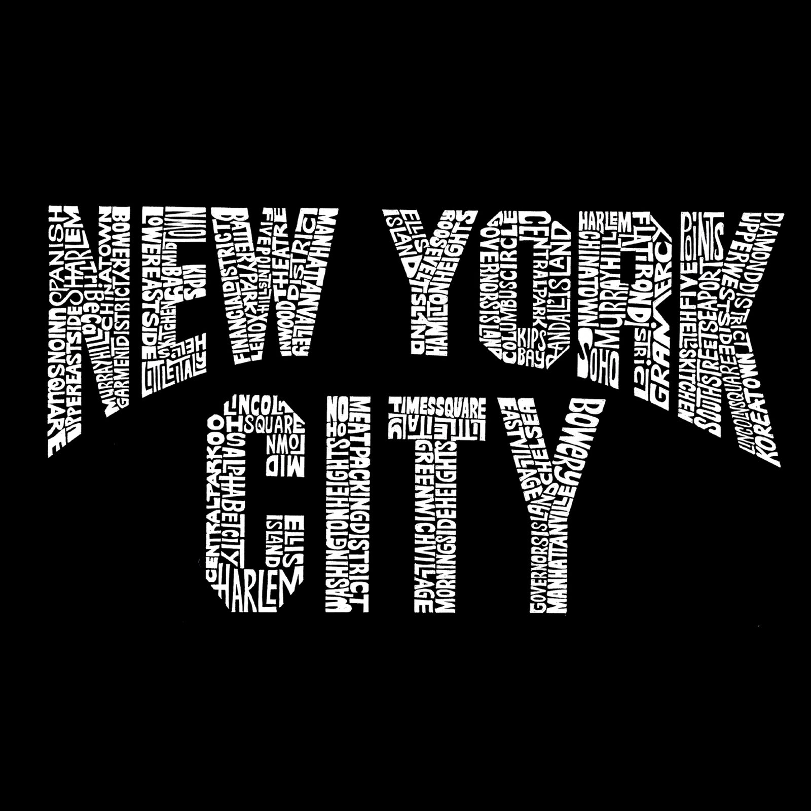 Women's Premium Word Art Flowy Tank Top - NYC NEIGHBORHOODS