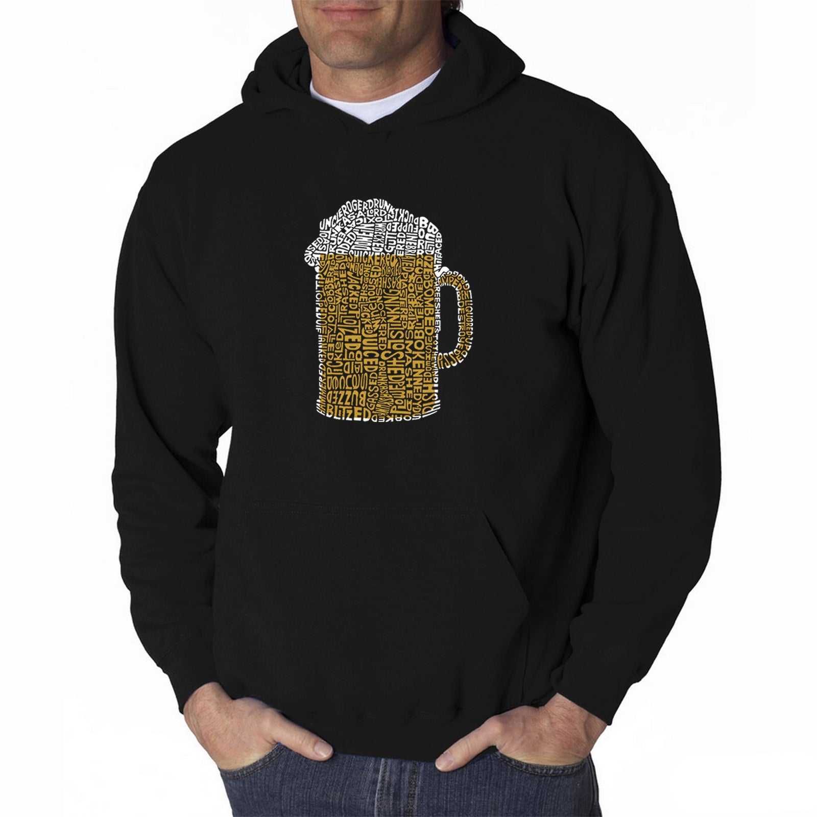 Men's Hooded Sweatshirt - Slang Terms for Being Wasted