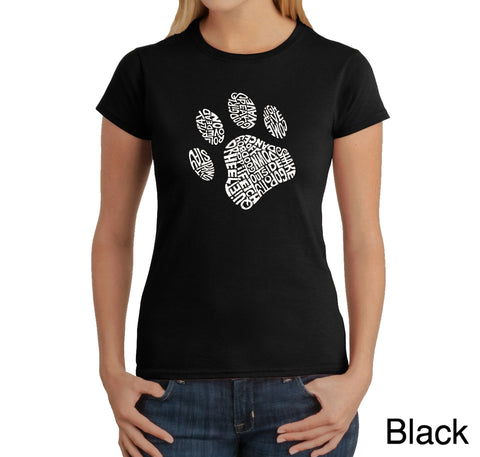 Women's Word Art T-Shirt - Texas Skull