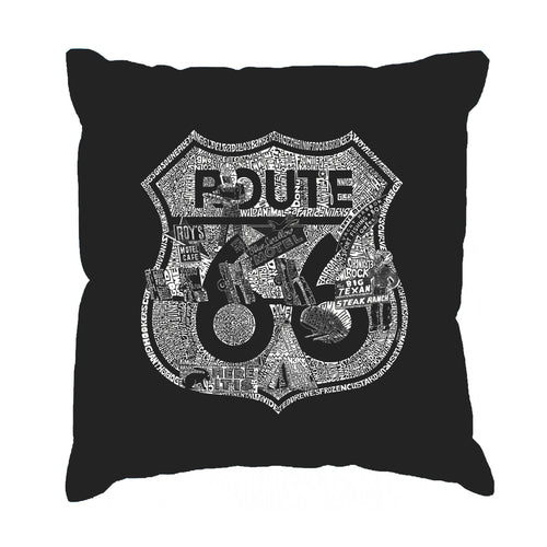 Throw Pillow Cover - Stops Along Route 66