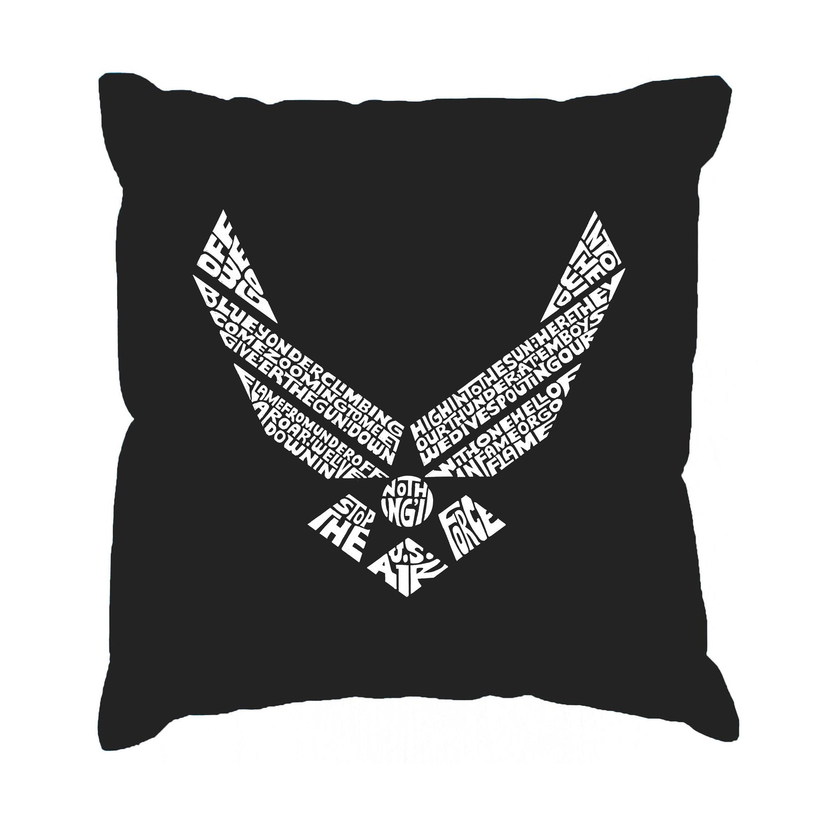 Throw Pillow Cover - LYRICS TO THE AIR FORCE SONG