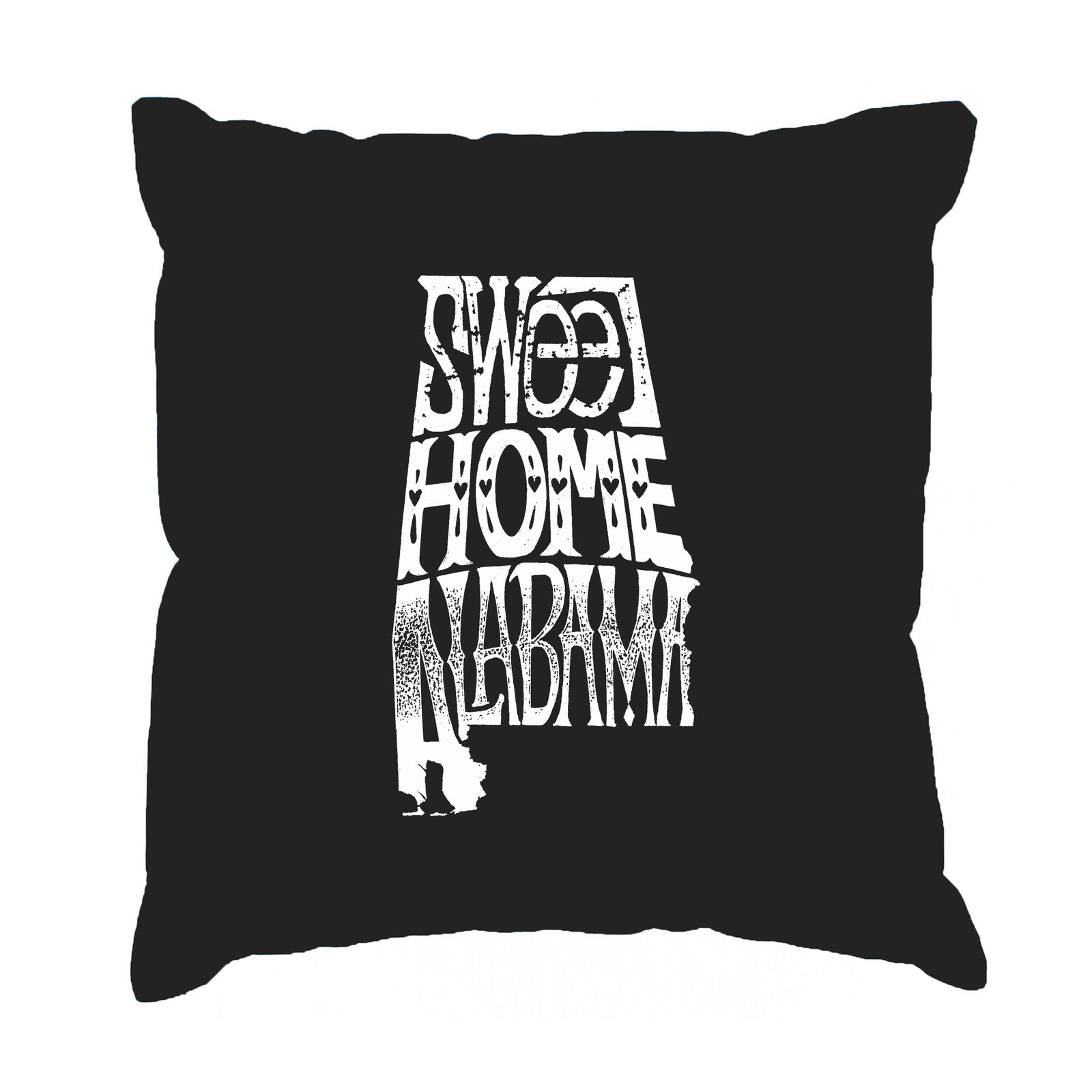 Throw Pillow Cover - Word Art - Sweet Home Alabama