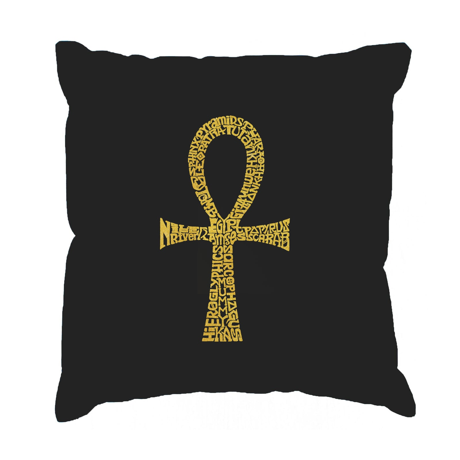 Throw Pillow Cover - Word Art - ANKH