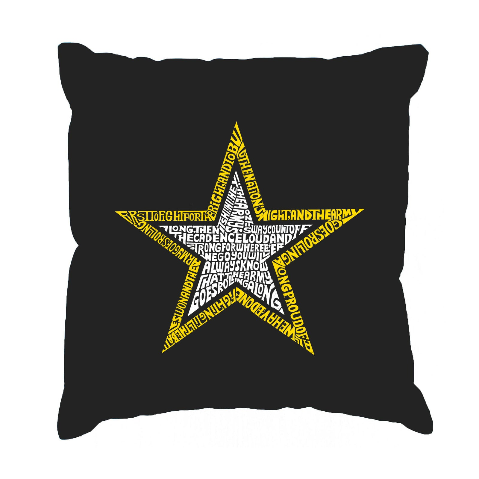 Throw Pillow Cover - LYRICS TO THE ARMY SONG