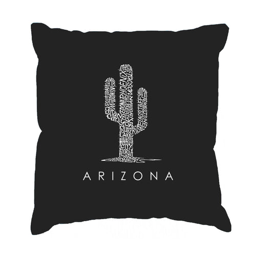 Los Angeles Pop Art Throw Pillow Cover - Arizona Cities