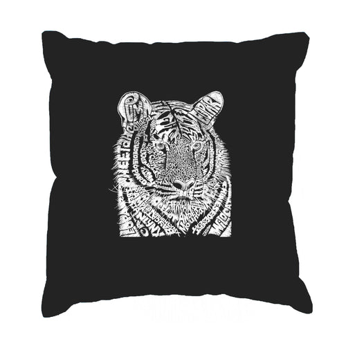 Throw Pillow Cover - Word Art - Big Cats