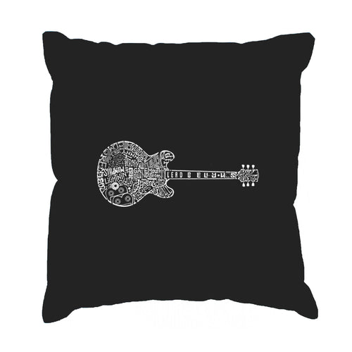 Throw Pillow Cover - Word Art - Blues Legends