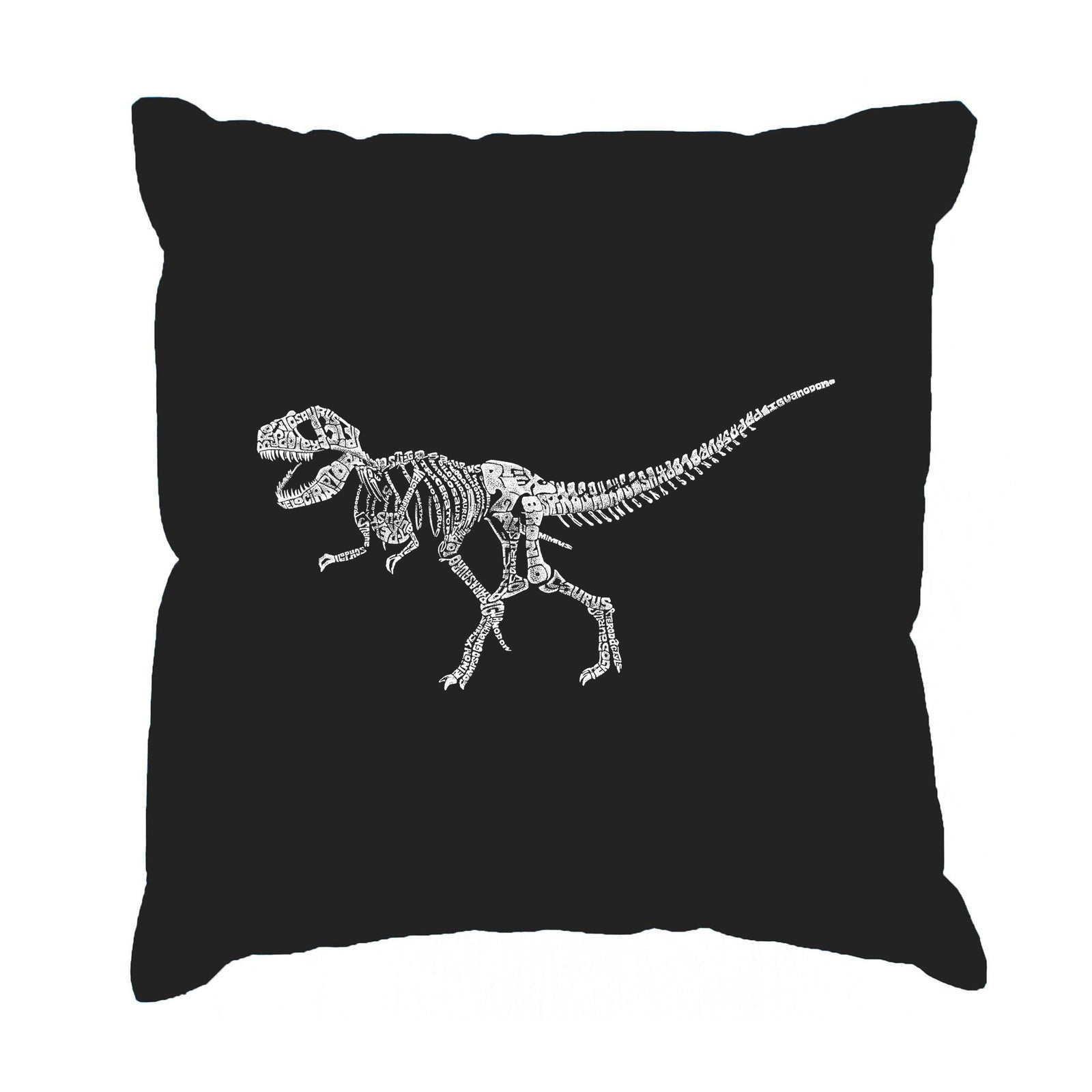 Throw Pillow Cover - Dinosaur T-Rex Skeleton