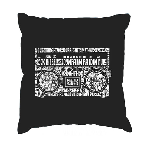Throw Pillow Cover - Greatest Rap Hits of The 1980's
