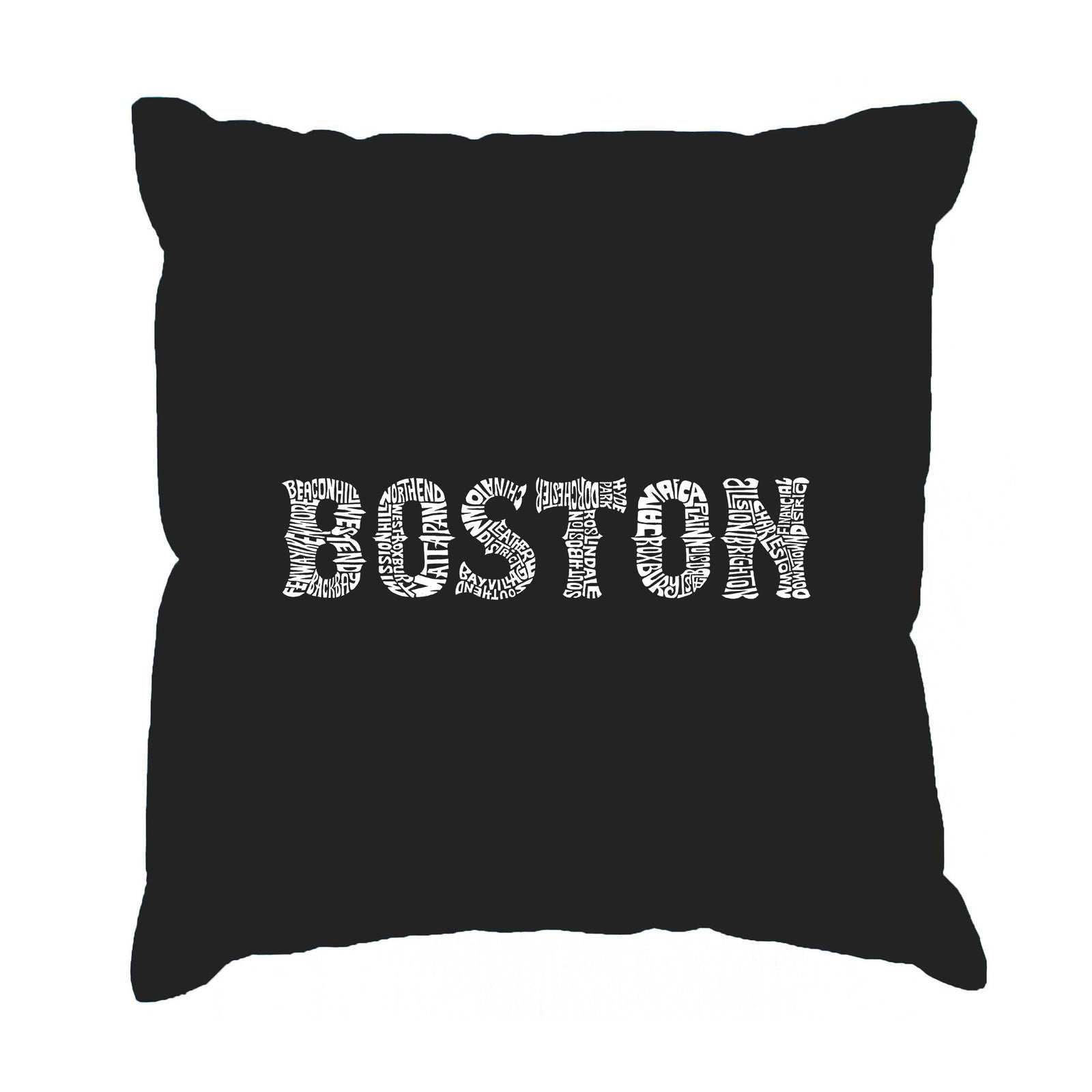 Throw Pillow Cover - BOSTON NEIGHBORHOODS